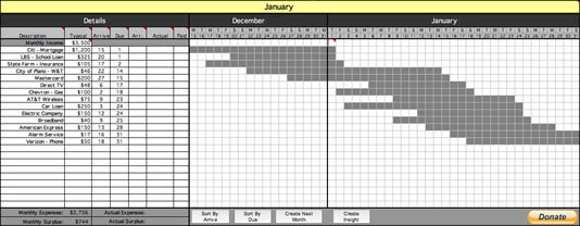 Bill Organizer screenshot
